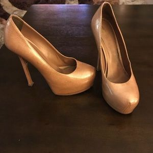 Yves Saint Laurent tan pumps